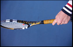 One-handed Backhand - Eastern Grip - left-handed