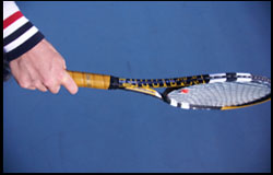 One-handed Backhand - Eastern Grip - right-handed