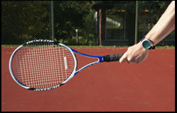 Eastern Forehand Grip - left-handed