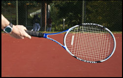 Forehand - Semi Western Grip - right-handed