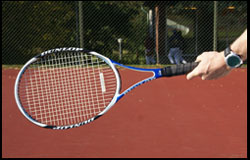 Forehand - Semi Western Grip - left-handed