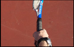 Midway Grip Between Continental Eastern Backhand - right-handed
