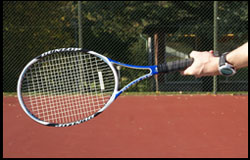 Western Forehand Grip - left-handed